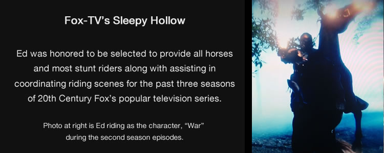 Ed Dabney provides horses for FOX's Sleepy Hollow
